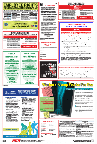 Florida Labor Law Posters - English