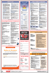 British Columbia Labor law compliance Poster