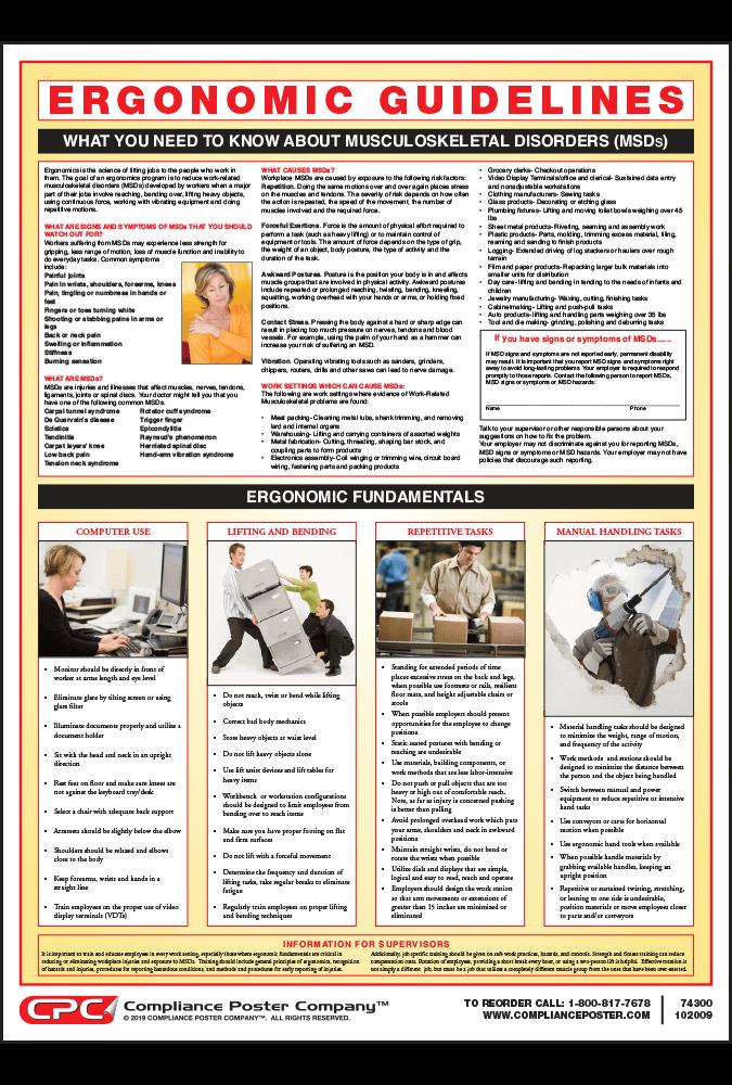 Ergonomics Guidelines Poster