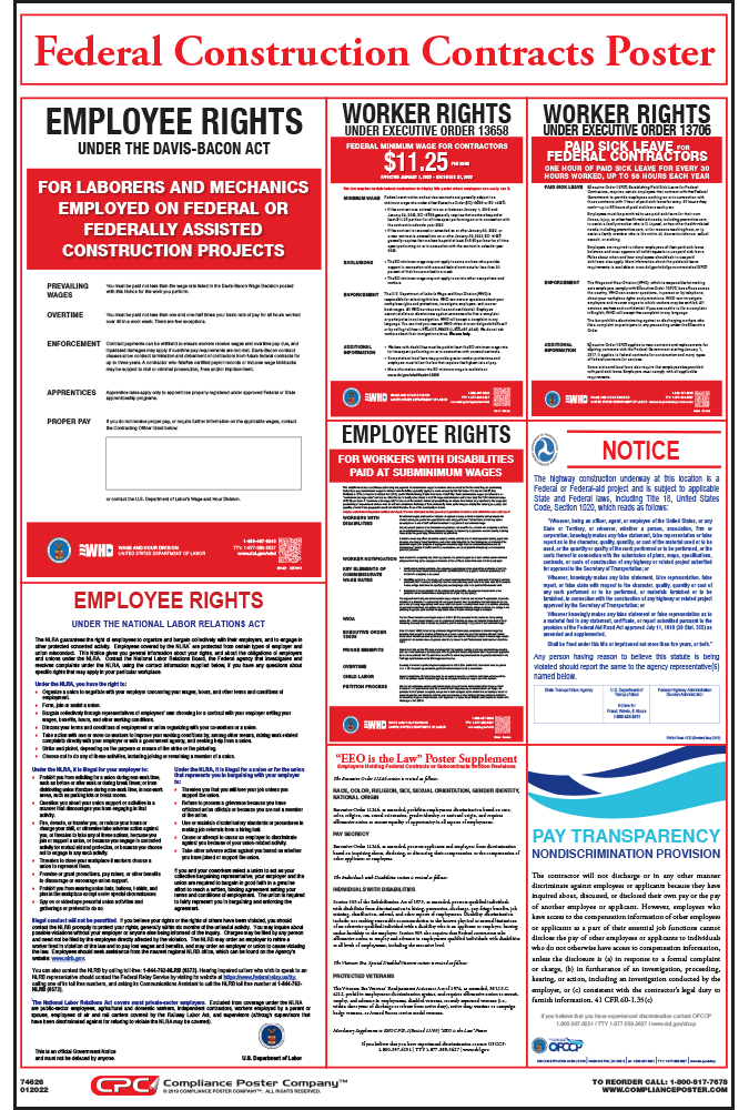 Federal Construction Contracts Poster