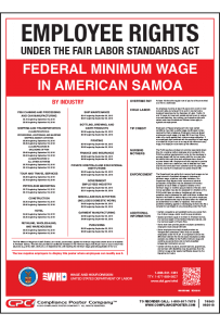 American Samoa Federal Minimum Wage Poster
