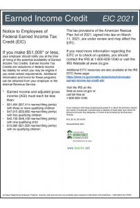 2018 Louisiana Earned Income Credit Peel 'N Post