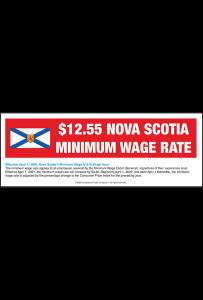 Nova Scotia 2018 Minimum Wage Peel 'N Post