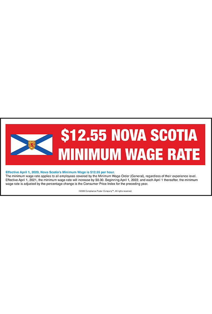 Nova Scotia 2018 Minimum Wage Peel 'N Post