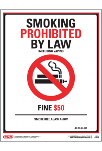 Alaska No Smoking Poster