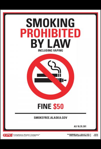 Alaska No Smoking Poster