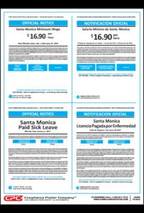 Santa Monica Minimum Wage Poster