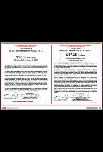 El Cerrito California Minimum Wage Poster