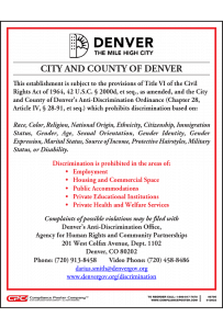 Denver Anti-Discrimination Poster