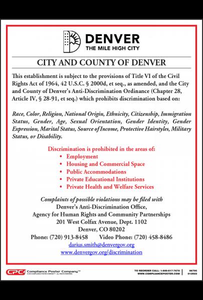 Denver Anti-Discrimination Poster