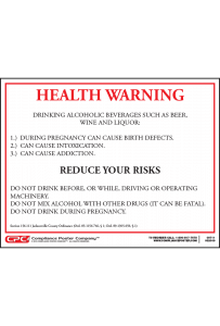 Jacksonville Alcohol Health Warning Poster