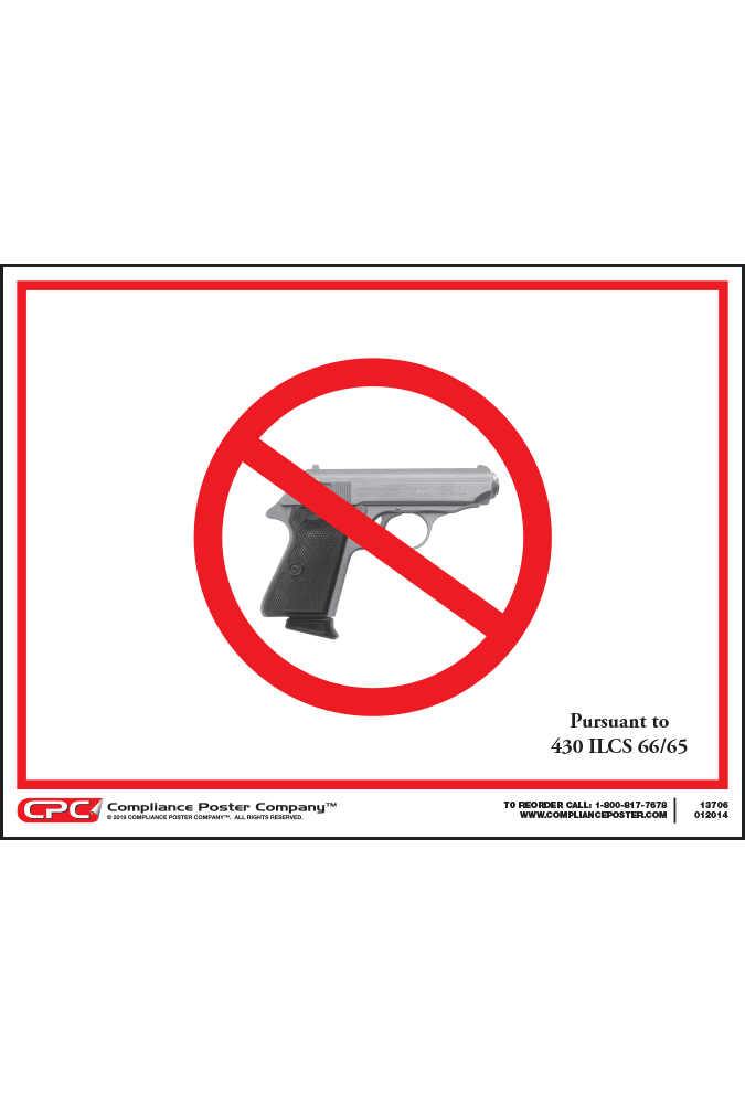 Illinois Concealed Carry Prohibited Sign