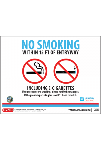 Chicago No Smoking Poster
