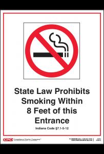 Indiana No Smoking Poster