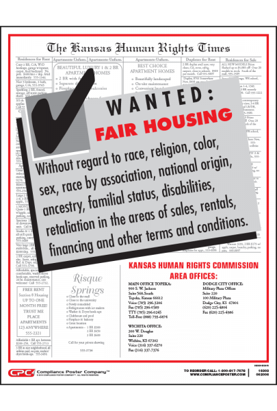 Kansas Fair Housing Poster