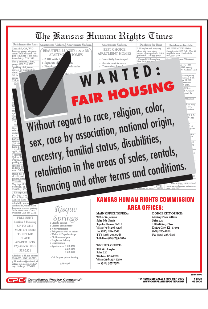 Kansas Fair Housing Poster