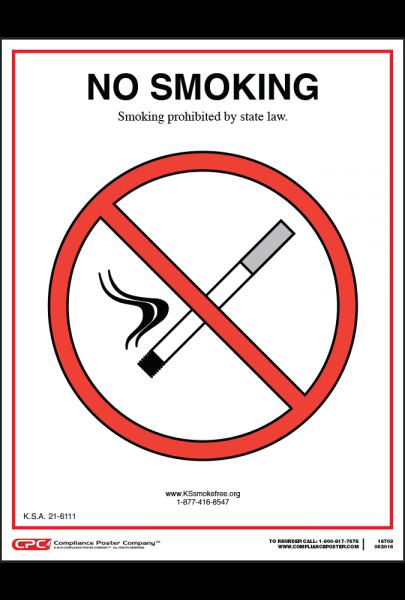 Kansas Smoking is Prohibited Signs