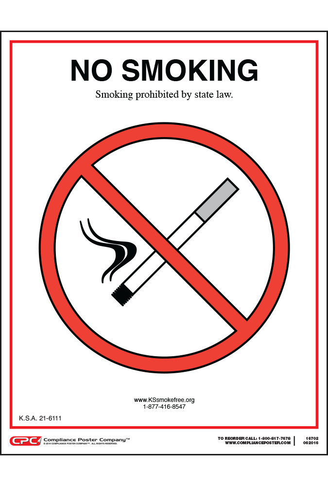 Kansas Smoking is Prohibited Signs
