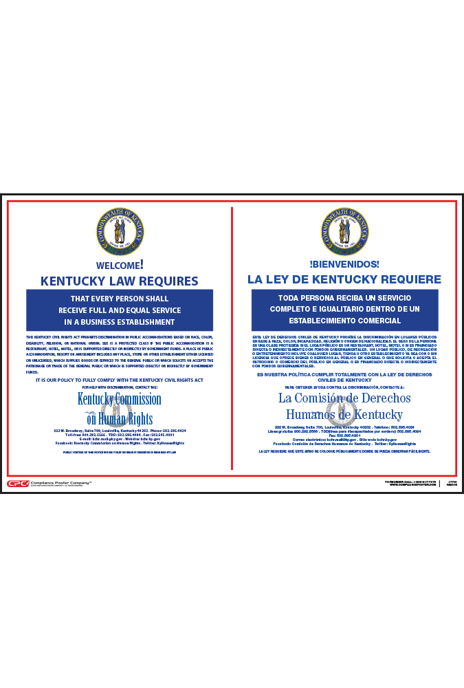 Kentucky Bilingual Public Accommodation Poster