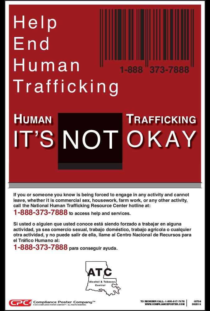 Louisiana Human Trafficking Poster