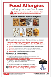 Maryland Food Allergy Awareness Poster