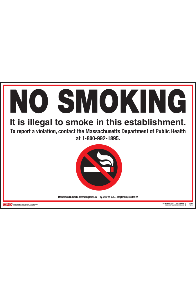 Massachusetts No Smoking Poster