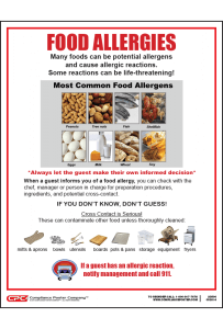 Saint Paul Food Allergy Poster