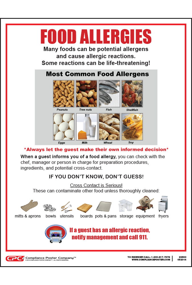 Saint Paul Food Allergy Poster