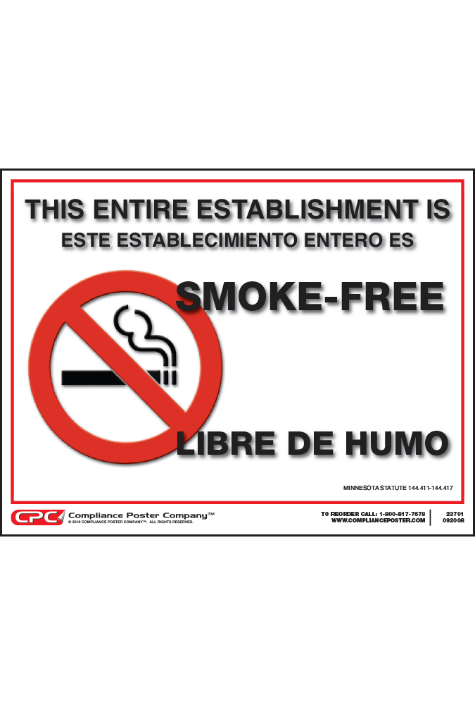 Minnesota Smoke-Free Poster