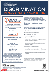 Missouri Discrimination in Housing Poster