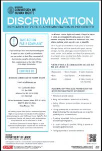 Missouri Public Accommodation Poster