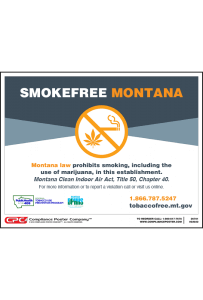 Montana No Smoking Poster