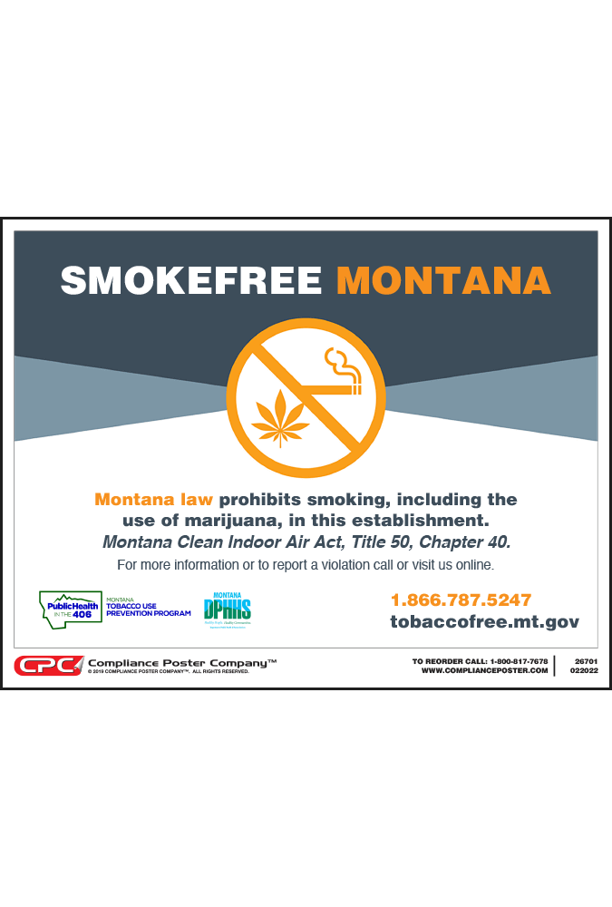 Montana No Smoking Poster