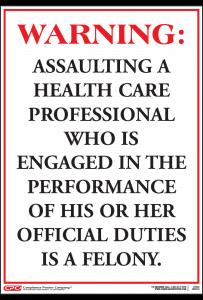 Nebraska Violence in Healthcare Poster