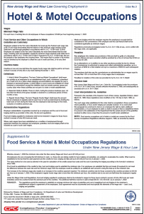 New Jersey Hotel and Motel Occupations Order