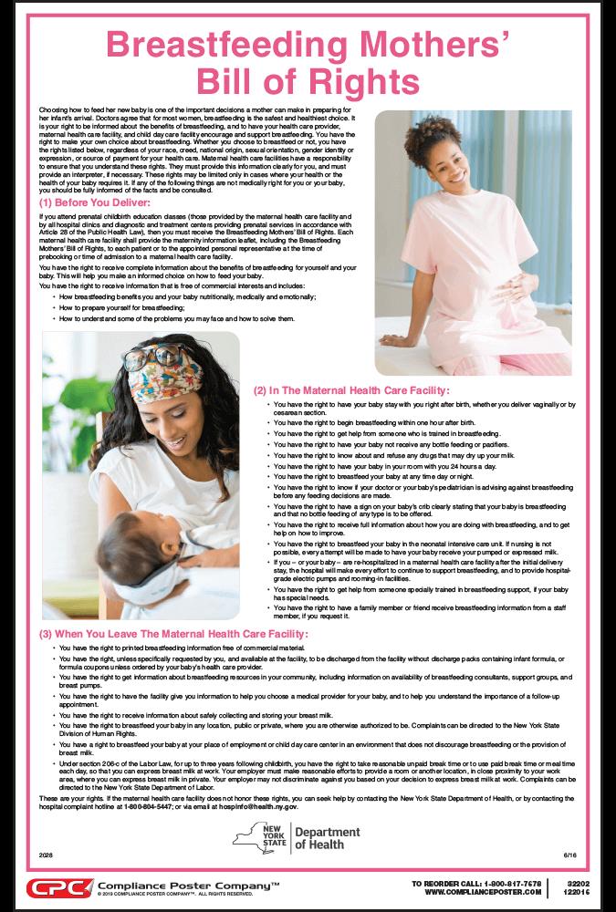 New York Breastfeeding Mothers' Bill of Rights