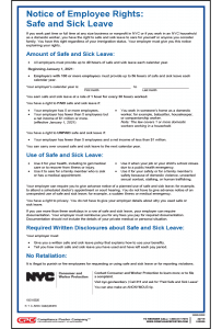 New York Paid Safe and Sick Leave Poster