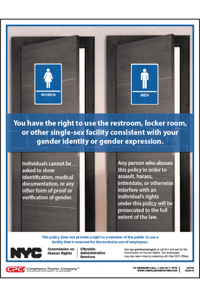 Single Sex Facilities Policy Poster