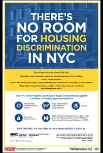 City of New York Fair Housing Poster
