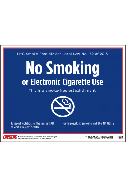 No Smoking and Electronic Cigarette Use Poster