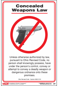 Ohio No Weapons Poster