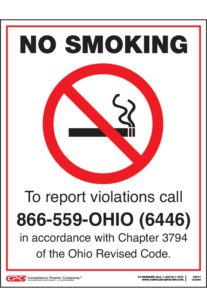 Ohio No Smoking Poster