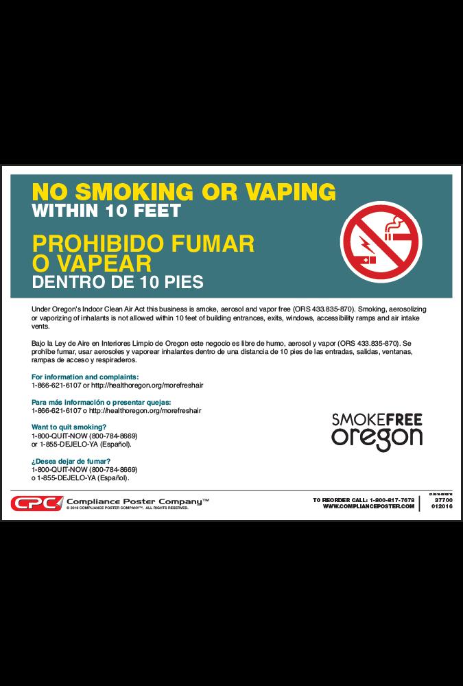 Oregon No Smoking Poster