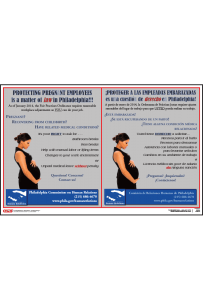 Philadelphia Pregnancy Accommodation Rights Poster