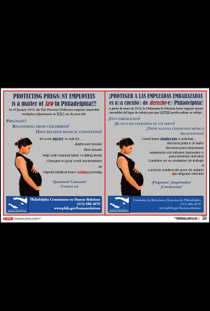 Philadelphia Pregnancy Accommodation Rights Poster