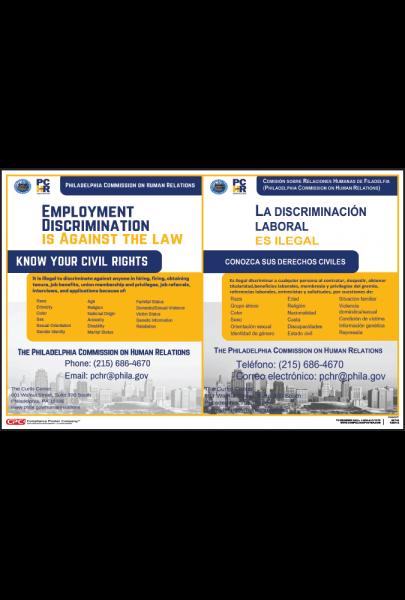 Philadelphia Employment Discrimination Poster
