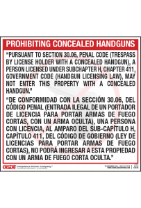 Texas Bilingual Handgun Poster