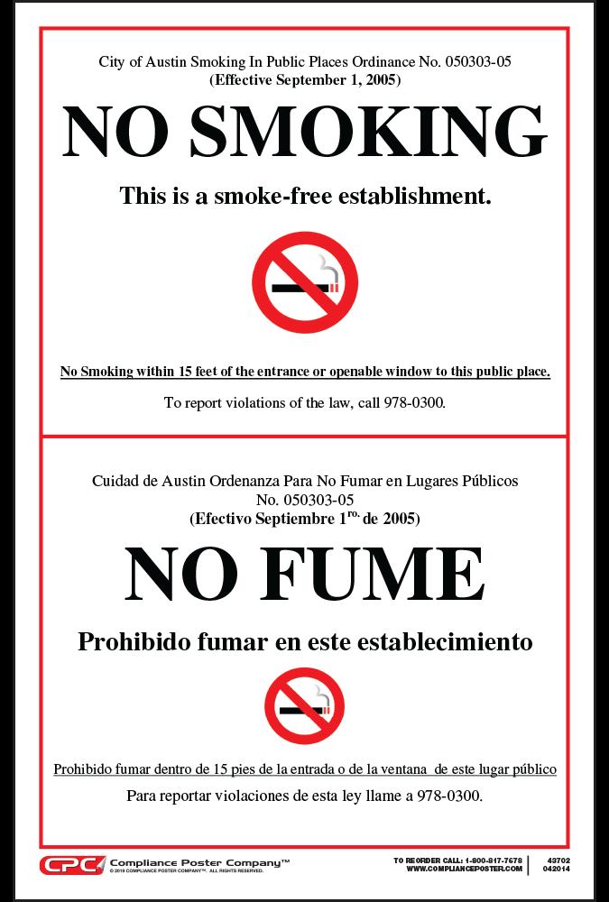 Austin No Smoking Poster
