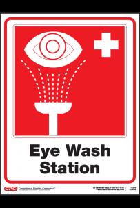 Eye Wash Station Poster