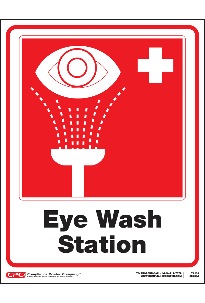 Eye Wash Station Poster